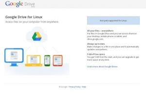 Screenshot GoogleDrive für Linux