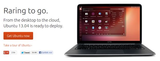 """Ubuntu – 13.04 """"Raring Ringtail"""" heute erschienen"""